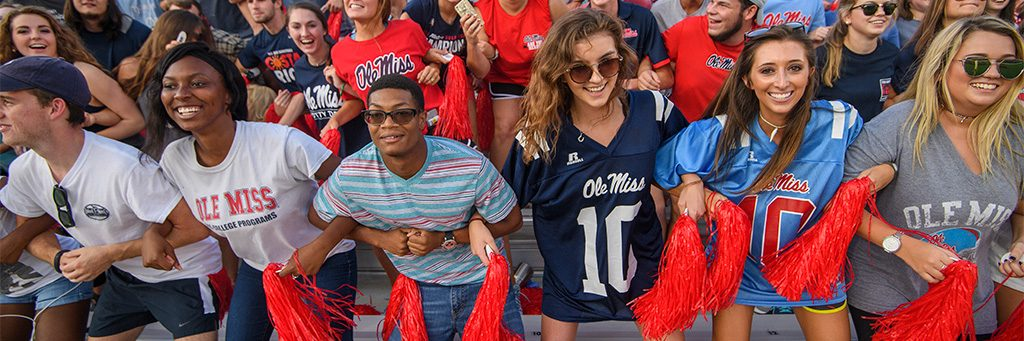 Students Lock the Vaught at the first football game of the season.